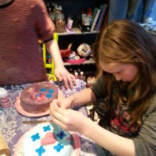 taart versieren