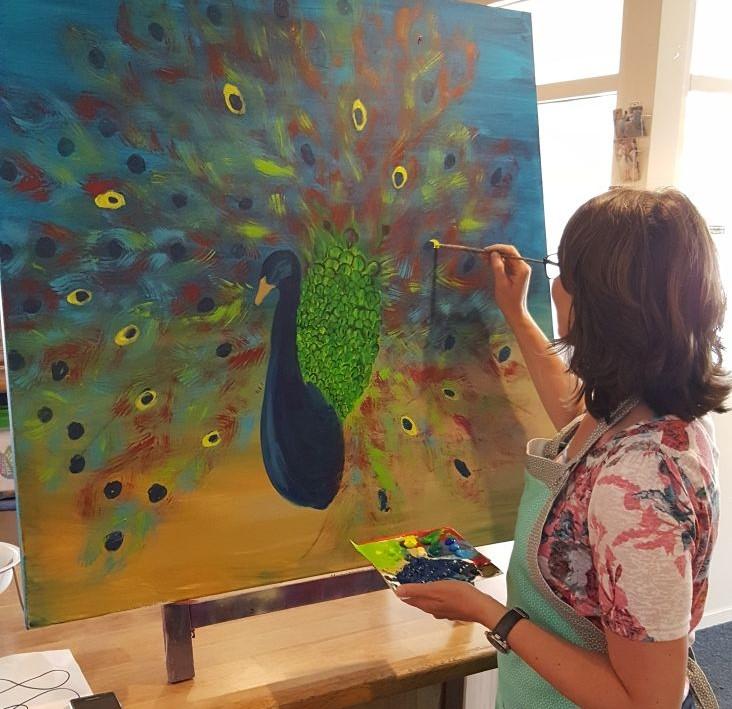 truus schildert pauw